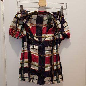 Guess Silk Checkered Blouse